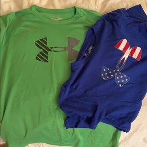 Bundle of 2 boys' Under Armour T-shirts